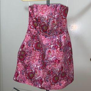 Topshop Vibrant Pink strapless mini dress NWT 6